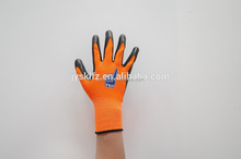 cheap Nylon knitted work gloves coated with nitrile palm