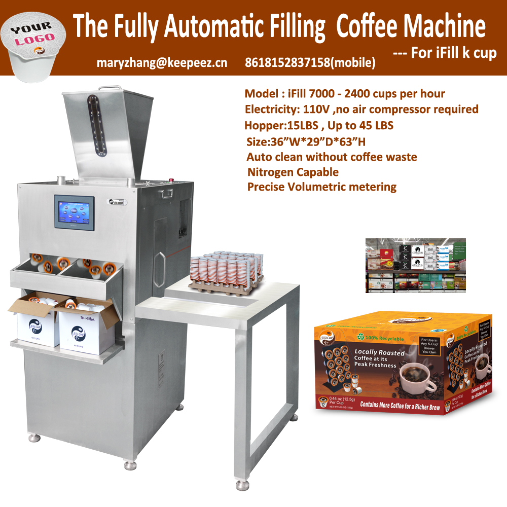 iFill 7000 2400 Cups/Hour K cup coffee pod making machine