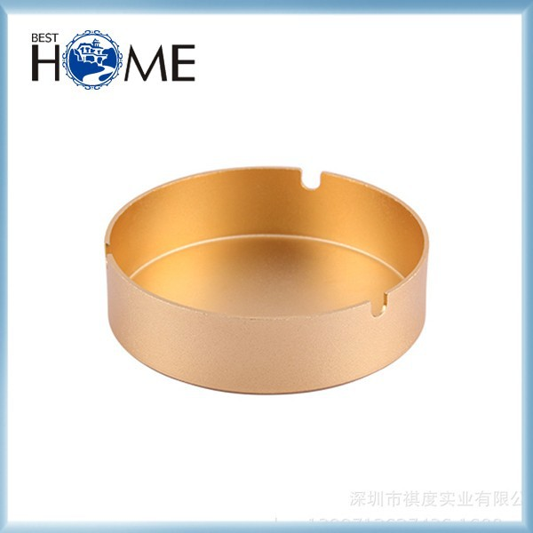 Round Antique Metal Stainless Steel Gold Plated Ashtray