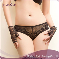 Sexy new design cheap sexy lace transparent young girl lace panties
