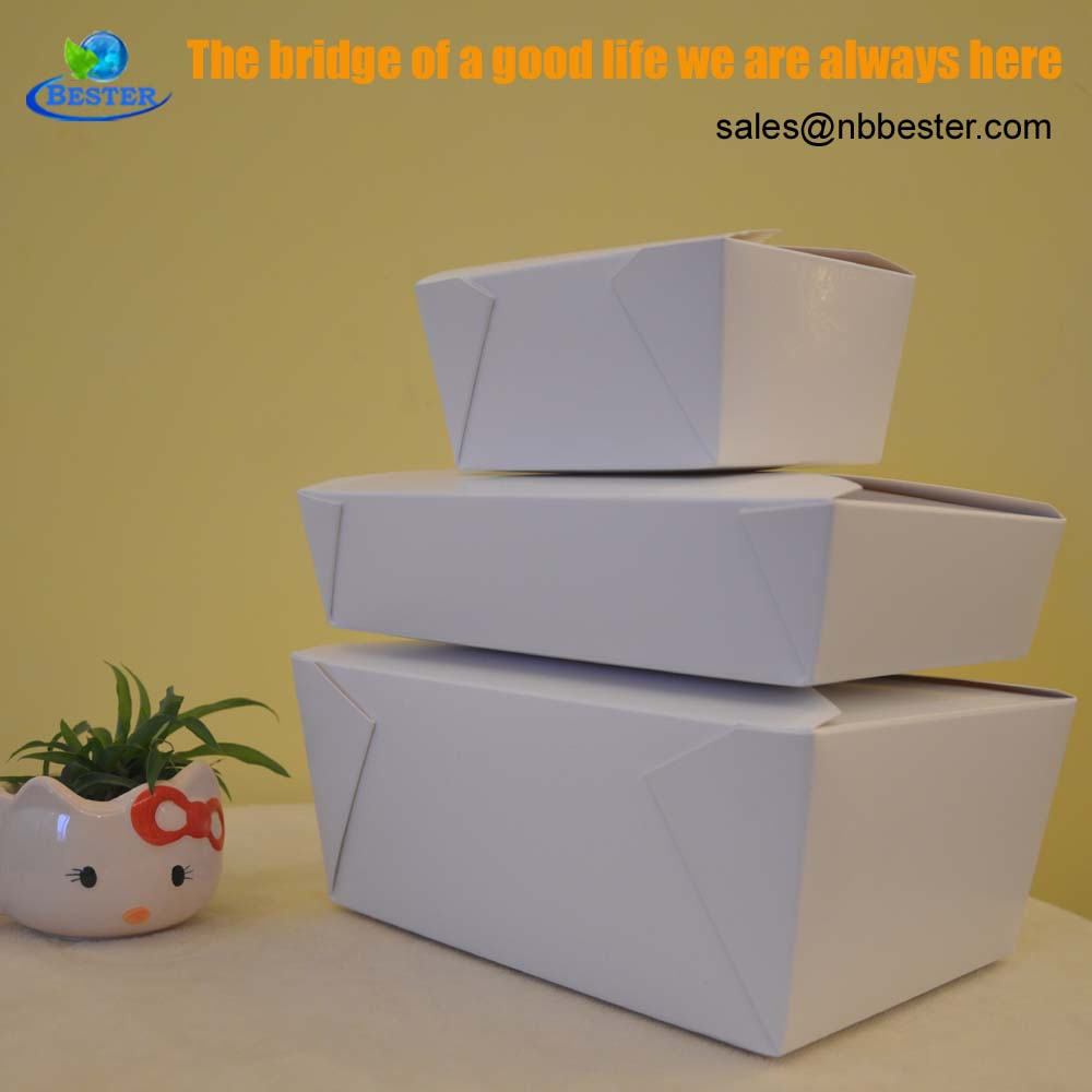 Folding grease proof cheap noodle packaging paper boxes