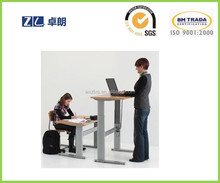sit to standing computer office height adjust desk electric lifting table leg used on office desks with two leg