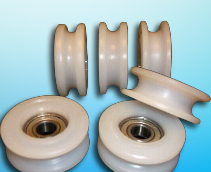 High quality POM/nylon u groove wheel with bearing