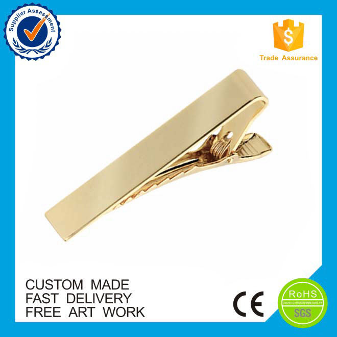 Promotional gifts unique tie bar custom metal gold tie clip