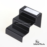 Black 3 steps counter top china cheap hot selling plexiglass shoe display ST-SCARBB-11