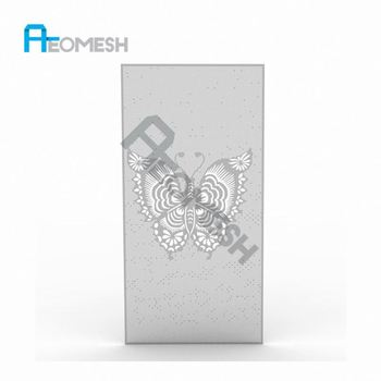 Made in Guangzhou Professional Factory Butterfly laser engraved board Decorative Metal Perforated Mesh
