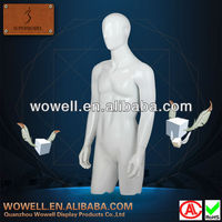 Fashion glossy upper body male mannekin / man mannequin / men body model