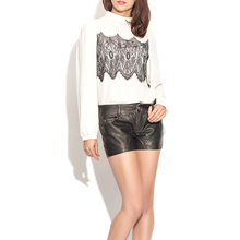 Latest women PU leather shorts ladies fashion wholesale sweat shorts