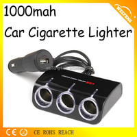 Car Cigarette lighter receptacle with usb port