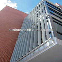 Exterior aluminium louvered shutters parts of outdoor aluminum sun shade