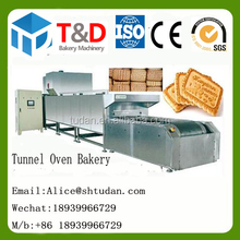 T&D Bakery shanghai China-pizza cake Pita biscuit toast bread tunnel oven dryer for sale bakery machine