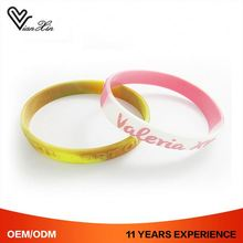 Debossed Swirl Unique Newest Style Change Color Silicone Wristbands