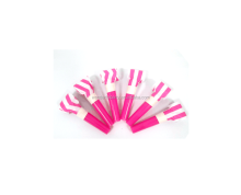 Pink stripe Fashional paper girls 2nd birthday party noise makers for party supplies decorations