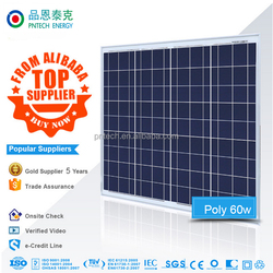 Poly 30w 40w 50w 60w solar panel best price manufacturers in china