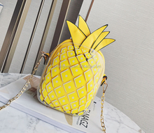 istanbul alibaba co uk Latest Fashion Women Girl's Small Shoulder Bag pineapple Pattern handbags with chain