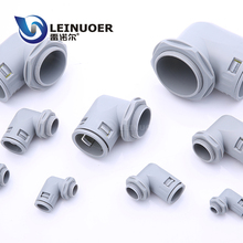 Free sample PA Corrugated Conduit Right Angle Plastic Connector