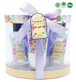 Bath & Body Spa Gift Basket With Lavender Fragrance Includes Shower Gel,Bubble Bath,Body Lotion,Mesh Sponge
