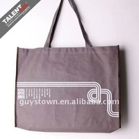 custom recycle nature printed cotton cloth shopping bag