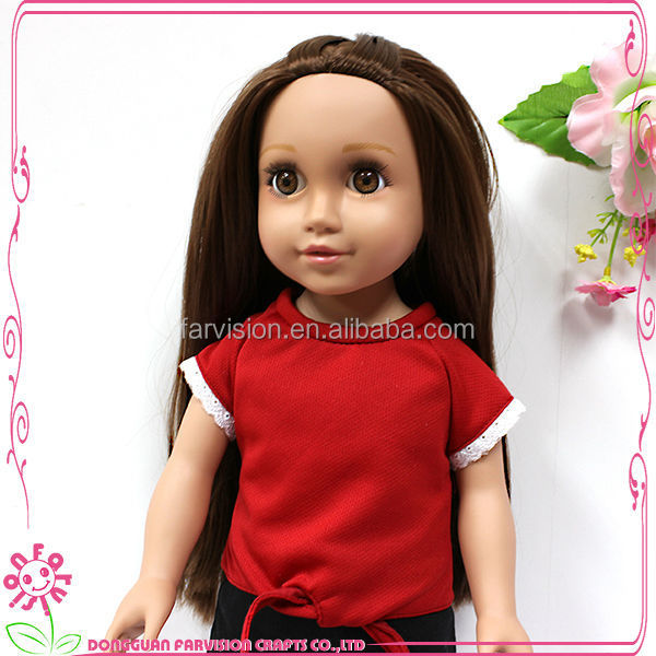 Fashion 18 inch plastic doll girl wholesale doll china sweet doll models