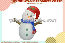 PVC lovely snowman with hat inflatable snowman EN71 approved