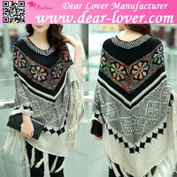 winter 2015 ladies Christmas Snowflake poncho sweater patterns crochet poncho