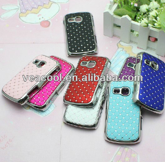 Luxury Bling Diamond Crystal Star Hard Case Cover for Samsung Galaxy Mini 2 S6500