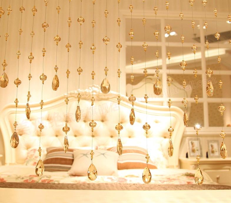 Home decoration crystal bead curtain buy crystal bead for Crystal decorations for home