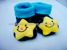 2014 Baby yellow star 3D Socks Boots Slippers Anti-slip Newborn 0-6
