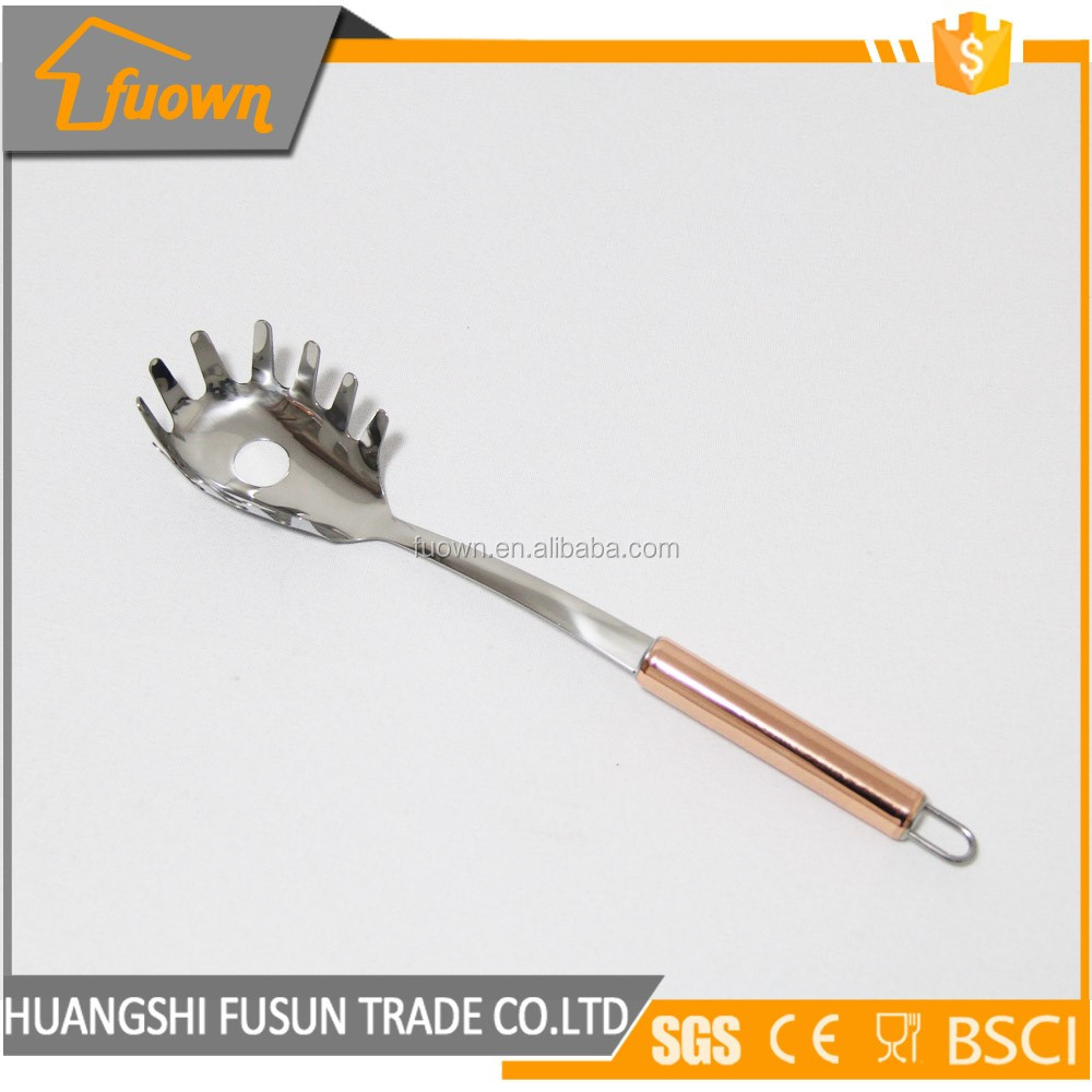 New design stainless steel pasta spoon spaghetti server