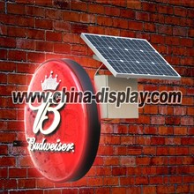 outdoor solar powered led light box signs
