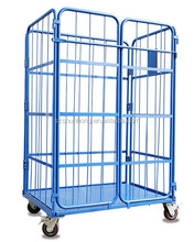 showcase type display promotional cage with strong wheels