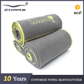 Mat cover non slip hot embroidery logo wholesale quick dry fabrics private label custom microfiber yoga towel