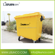 industrial plastic bins garbage bins 1100 with wheels