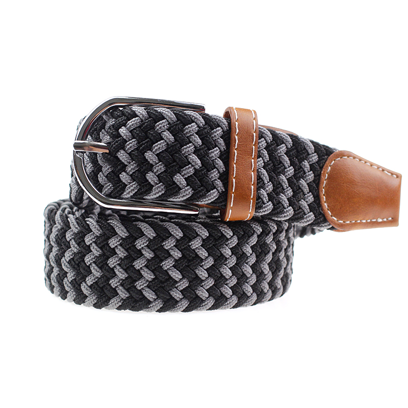 hot selling Top Design Mix Color Custom Woven Mens Braided Stretch elastic belt