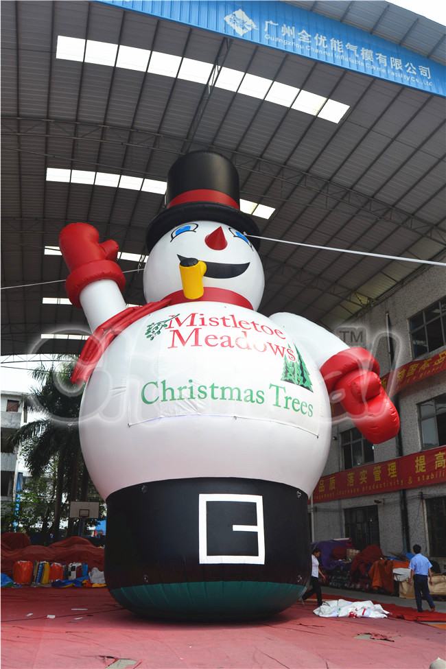 Christmas Festival Inflatable Snow Man for Advertising