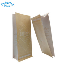 12oz Kraft Paper Coffe Bags with Degassing Valve Packaging Bag