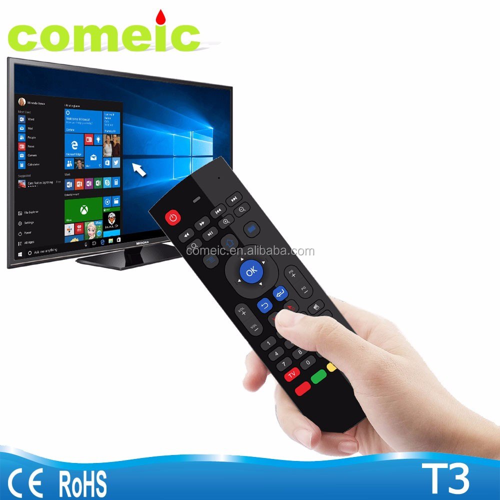 T3 2.4g Android Air mouse for tv box remote controller with keyboard air gyro mouse