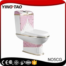 high quality popular design pink toilet for sale