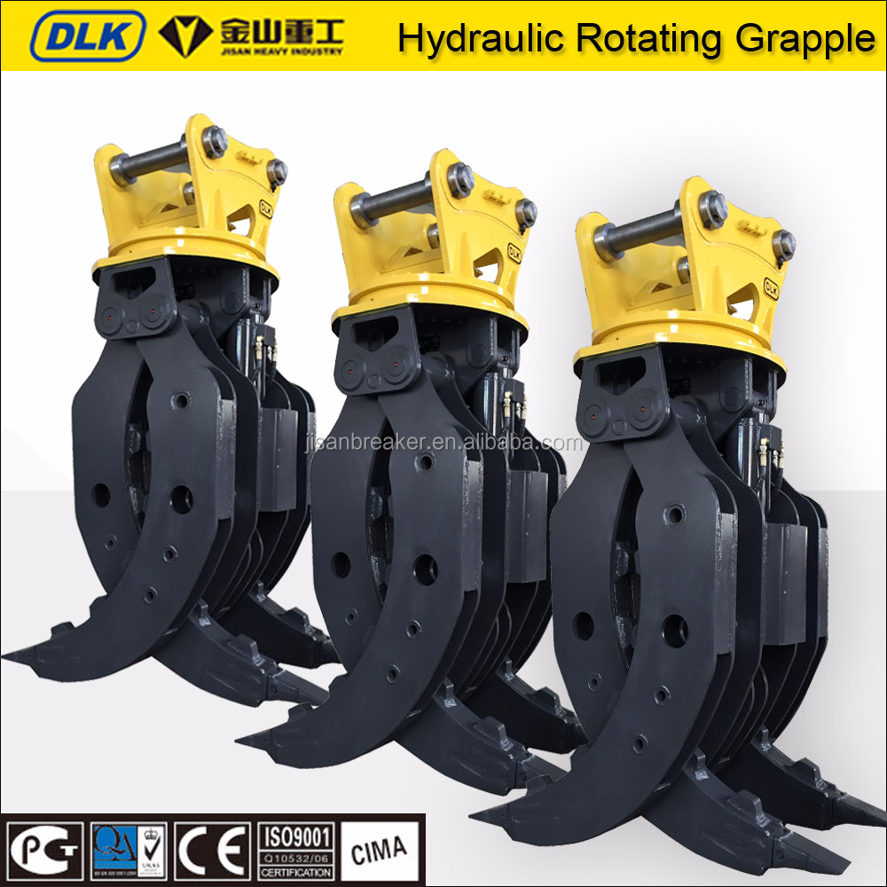 heavy duty excavator hydraulic stone grapple, Heavy Construction Equipment for <strong>Scrap</strong> / Wood