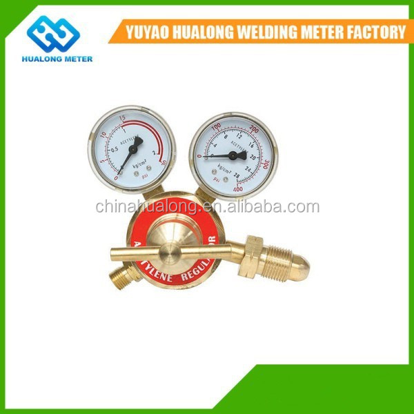 High quality gas cylinder meter gauge differential pressure gauge valve C2H2 acetylene gas cylinder price