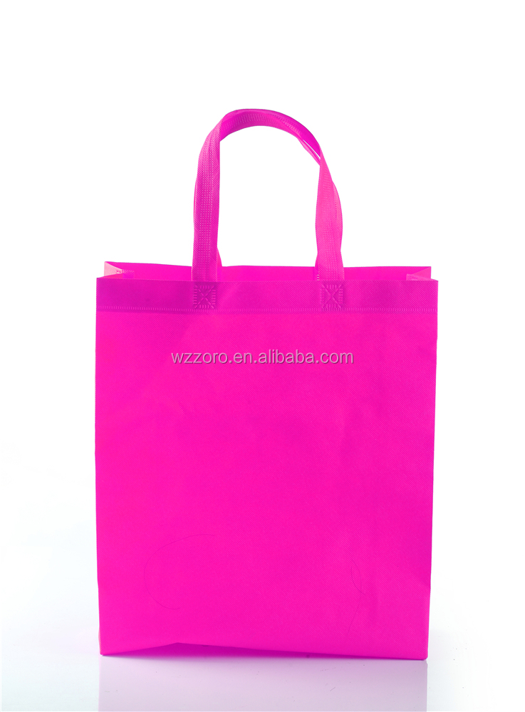 Cheap easy design eco-friendly rose red nonwoven shopping bag