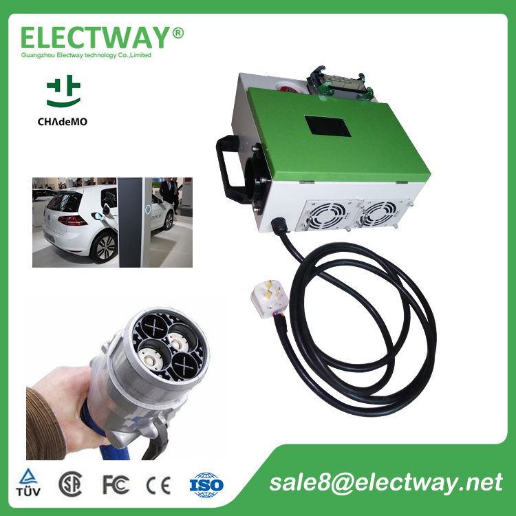 Electway CHAdeMO CHR-10Q 10kW Mobile type EV charger for electric vehicle
