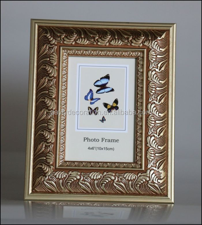 embossing plastic picture frame with antique flavour color top sale