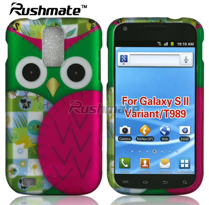 For Samsung Hercules T989 Hotsale Owl Design Hard Protector Case