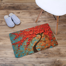 G&amp;<strong>D</strong> Tree Oil Painting Door Mats For Bathroom Bedroom Living Room Carpet