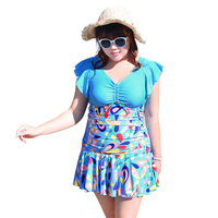 XXL-XXXXXXL plus size women's swimwear swimsuit 2016 new style ladies big size swim dress beach dress beachwear bathing suit