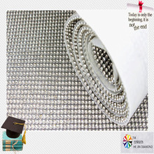 120*45 wedding decorations adhesive mesh sheet crystal,hot fix rhinestone mesh