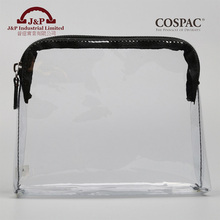 Promotions waterproof transparent pvc hand zipper cosmetic bag