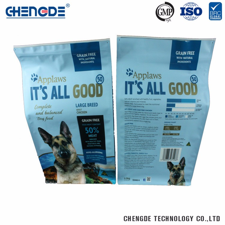 High Grade Factory Supply Unique Plastic Pet Food Stand Up Packaging Bag