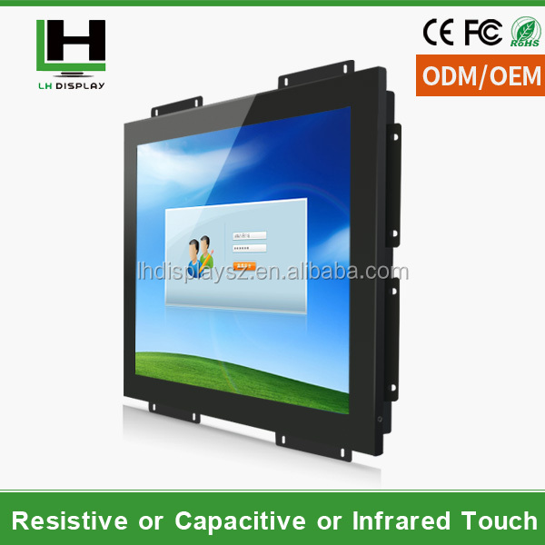 monitor lcd of 15 Inch Open Frame Touch Screen LED Monitor with DVI input